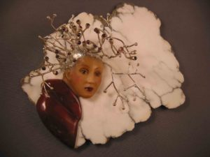 A Touch of Frost carved tagua jasper howlite sterling silver garnet garnets